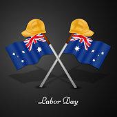 illustration of elements of Australia labor day background