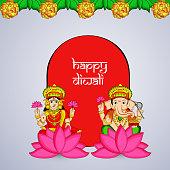 Illustration of background for Diwali festival celebrated in India