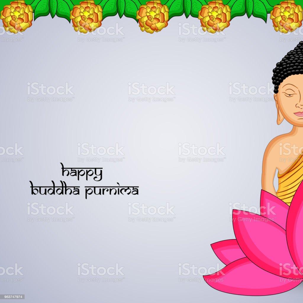ヒンズー教仏教祭仏誕祭の背景のイラスト - アイコンのベクターアート