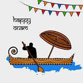 Illustration of Indian festival Onam background