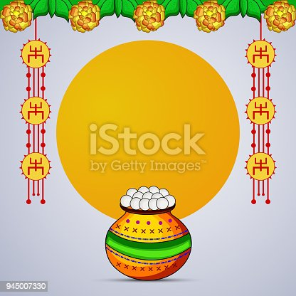 Illustration of Indian festival State west bengal, Bengali new year background