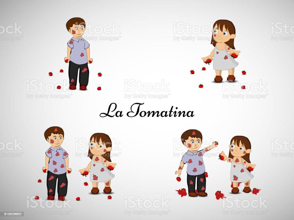 ilustração de fundo para a ocasião de La Tomatina festival da Espanha  ilustração de ilustração de 4b131b81ee