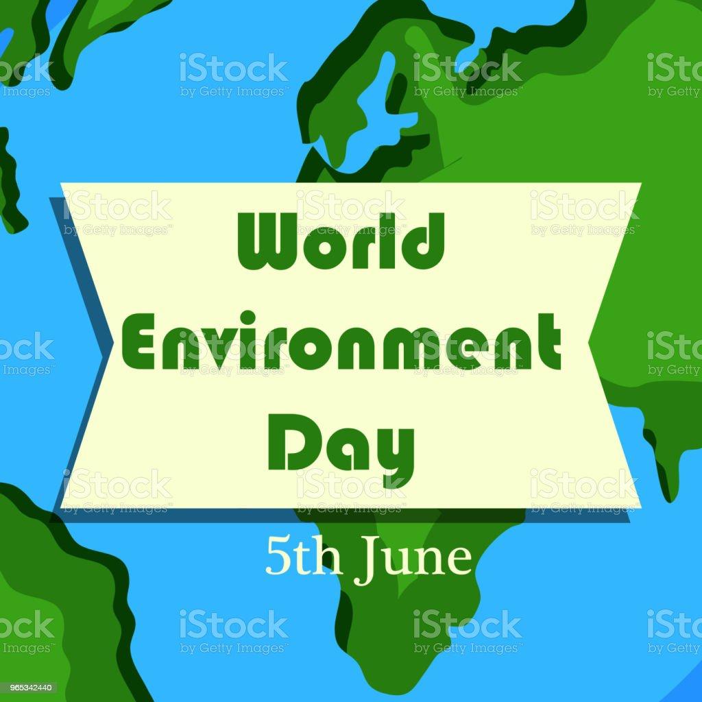 Illustration de fond pour la journée mondiale de l'environnement - clipart vectoriel de Abstrait libre de droits