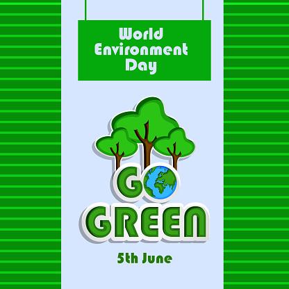 세계 환경의 날에 대 한 배경 그림 0명에 대한 스톡 벡터 아트 및 기타 이미지