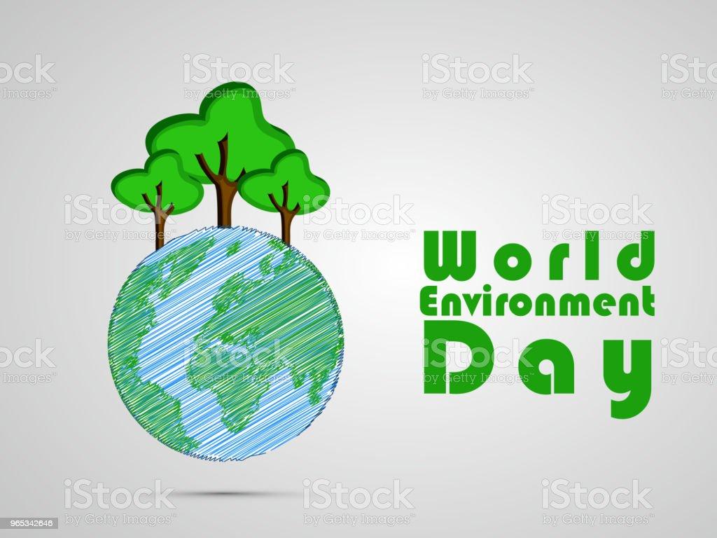 세계 환경의 날에 대 한 배경 그림 - 로열티 프리 0명 벡터 아트