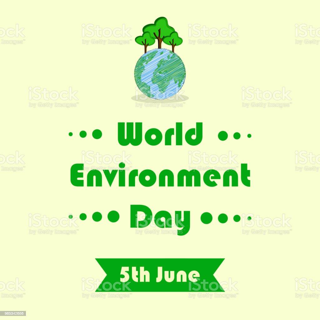 Illustration of background for World Environment Day royalty-free illustration of background for world environment day stock illustration - download image now