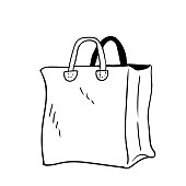 Illustration of Bag - Vector hand drawn