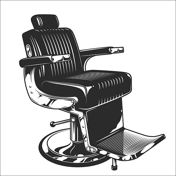 Illustration of barbershop chair vector art illustration