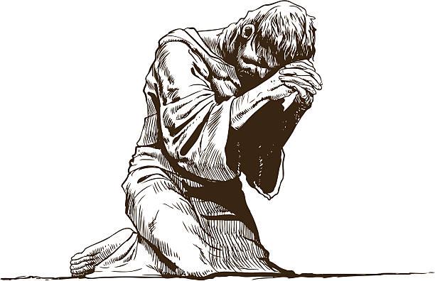 Kneeling In Prayer Illustrations, Royalty-Free Vector ...