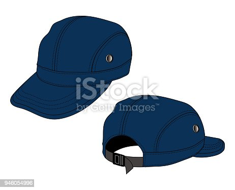 Illustration Of Baseball Cap Navy Blue Stock Vector Art   More Images of  Backgrounds 946054996  ae63922b119f