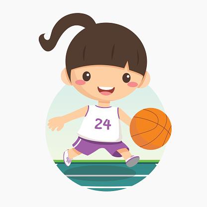 illustration of basketball girl