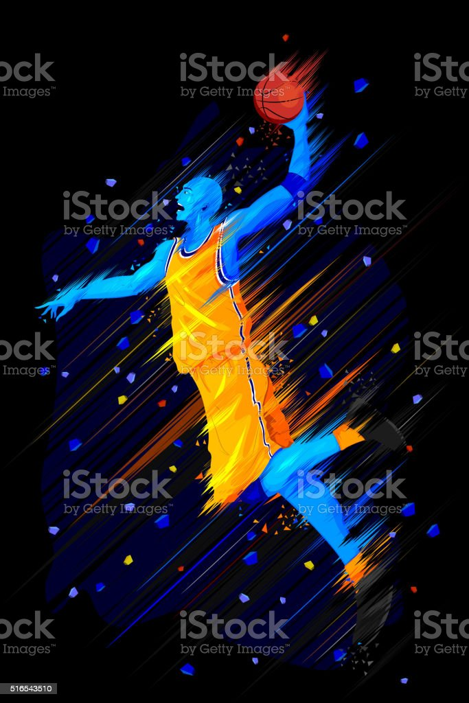 illustration of Basketball Player vector art illustration
