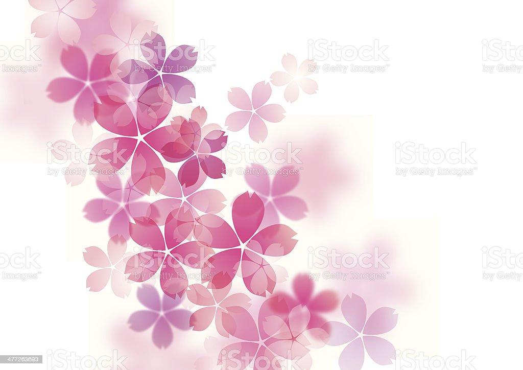 Illustration of beautiful cherry tree royalty-free stock vector art