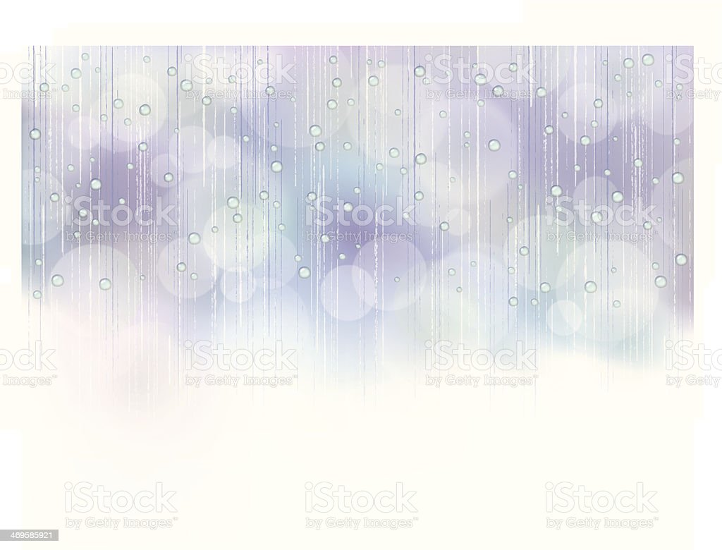 Illustration of beautiful rain vector art illustration