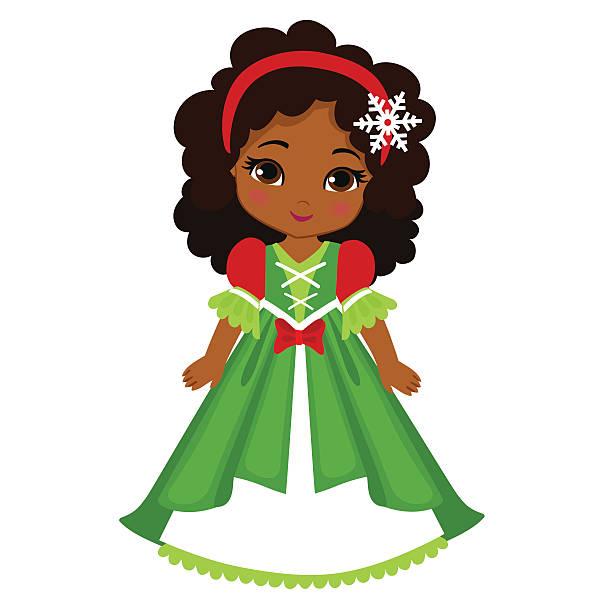 Illustration of beautiful winter christmas princess. vector art illustration