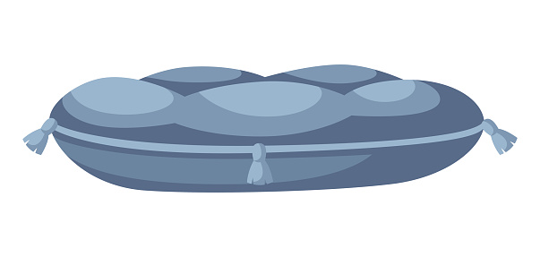 Illustration of bed or pillow for cat.