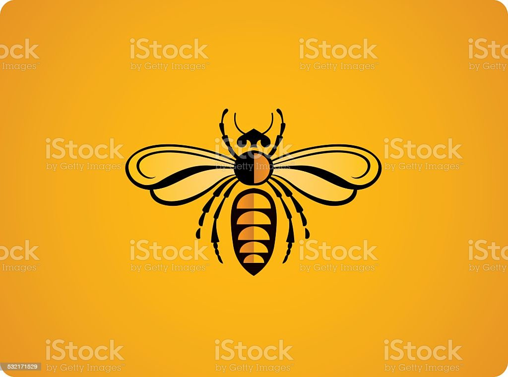 Illustration of bee vector art illustration