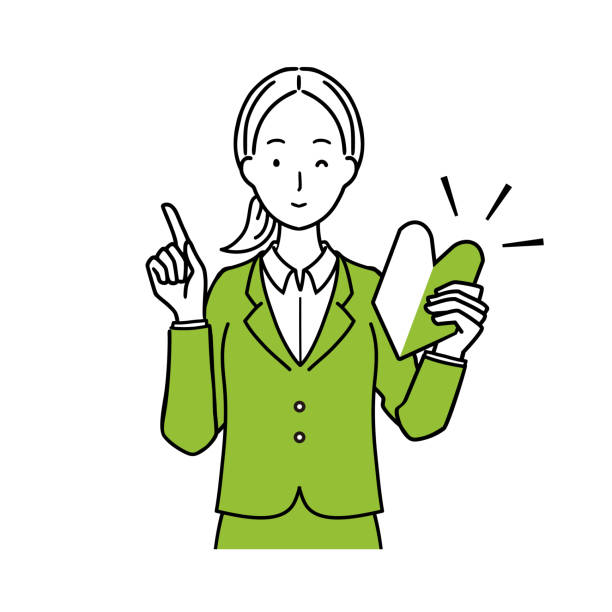 初心者のイラストok。 - 女性 笑顔点のイラスト素材/クリップアート素材/マンガ素材/アイコン素材