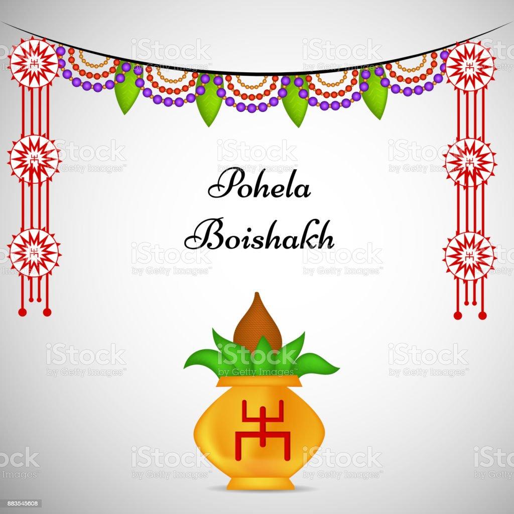 illustration of bengali new year background royalty free illustration of bengali new year background stock