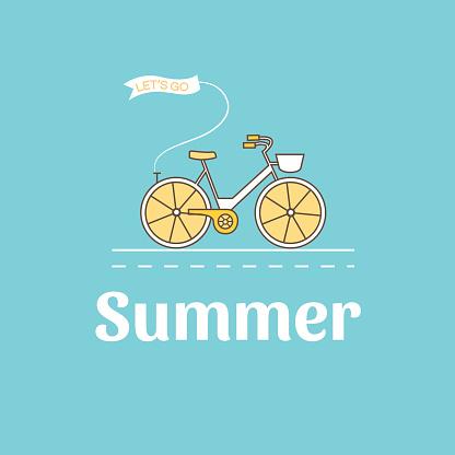 Illustration of bike