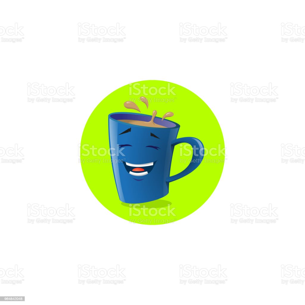 illustration of blue cartoon funny mug which laughs royalty-free illustration of blue cartoon funny mug which laughs stock vector art & more images of anthropomorphic smiley face