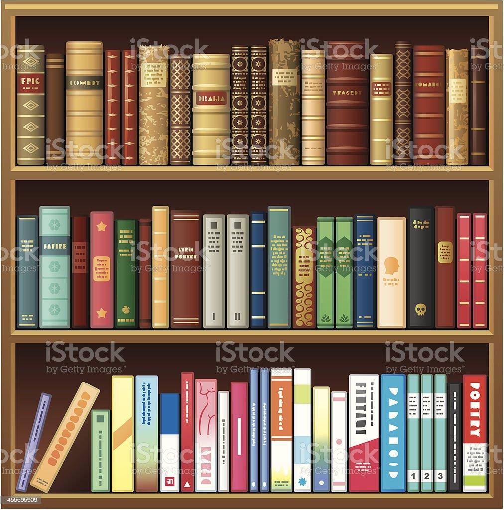 royalty free bookshelf clip art vector images illustrations istock rh istockphoto com library bookshelf clipart bookshelf border clipart