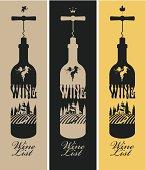 Illustration of bottles of wine