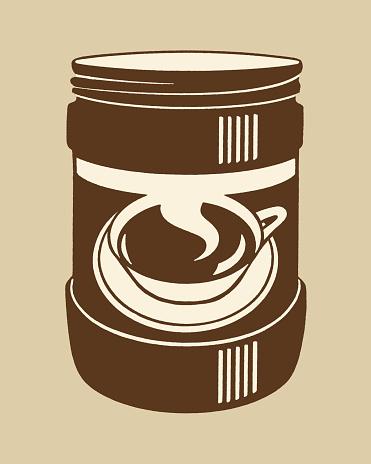 Illustration of box of coffee