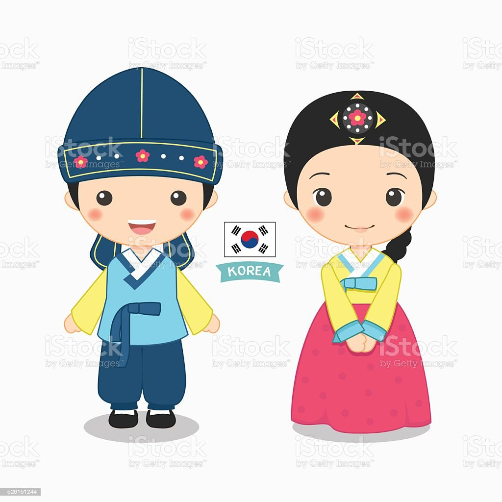 Korean Girl Vector