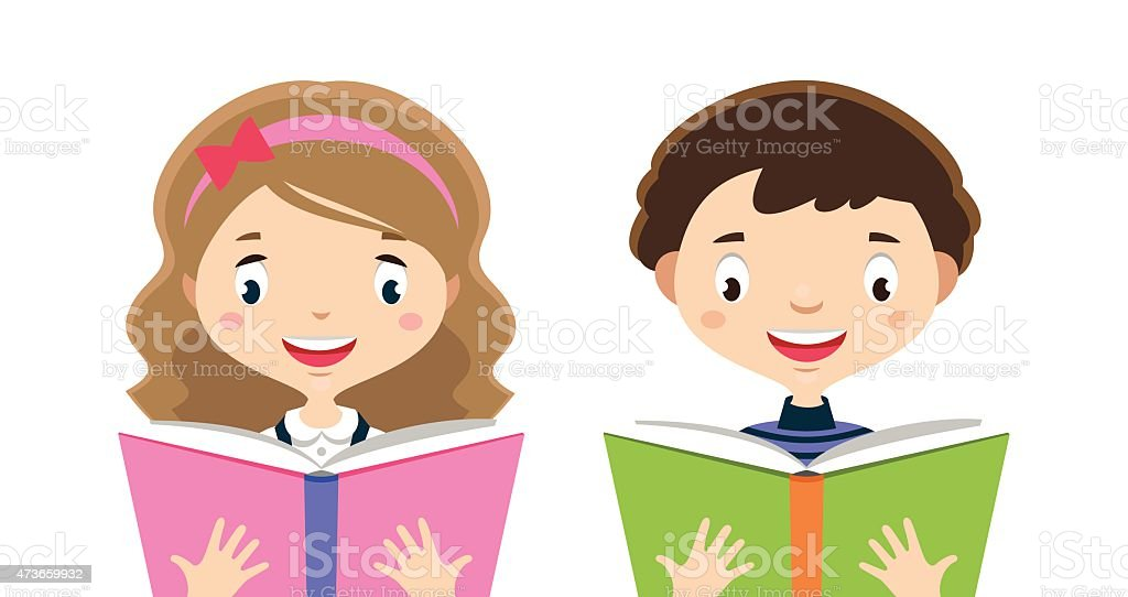 royalty free two people reading hobby books clip art vector images rh istockphoto com students reading books clipart reading books clipart free