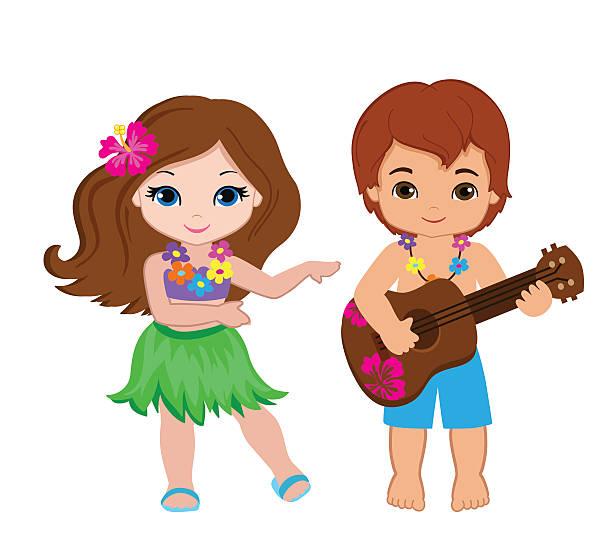 Best Hawaiian Girl Illustrations, Royalty-Free Vector ...