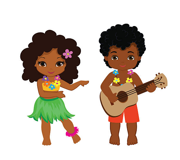 Royalty Free Hawaiian Girl Clip Art, Vector Images ...