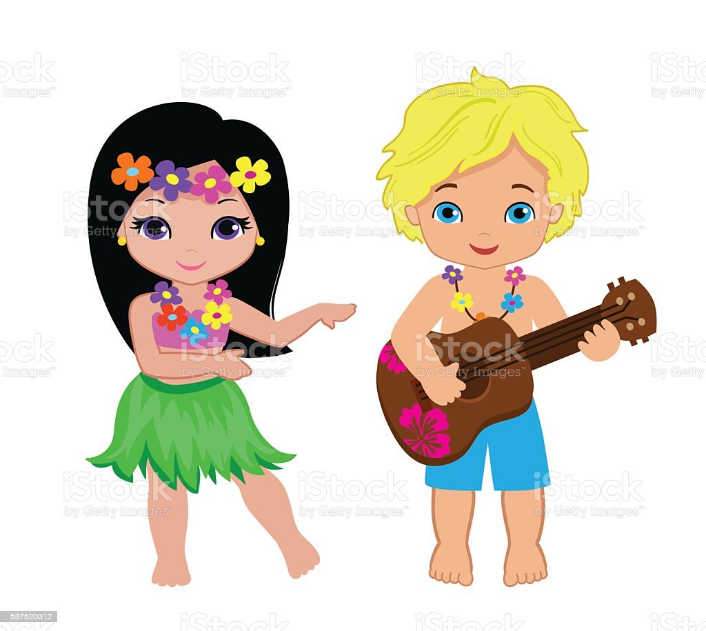royalty free hawaiian girl clip art vector images illustrations rh istockphoto com cartoon hula girl clipart hula girl clipart free