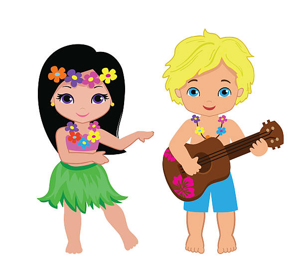 Best Hawaiian Girl Illustrations, Royalty-Free Vector ...