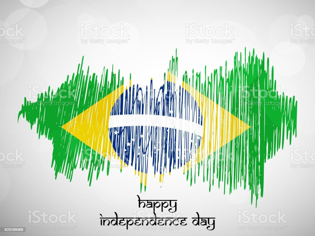 Illustration Of Brazil Independence Day Background Stock