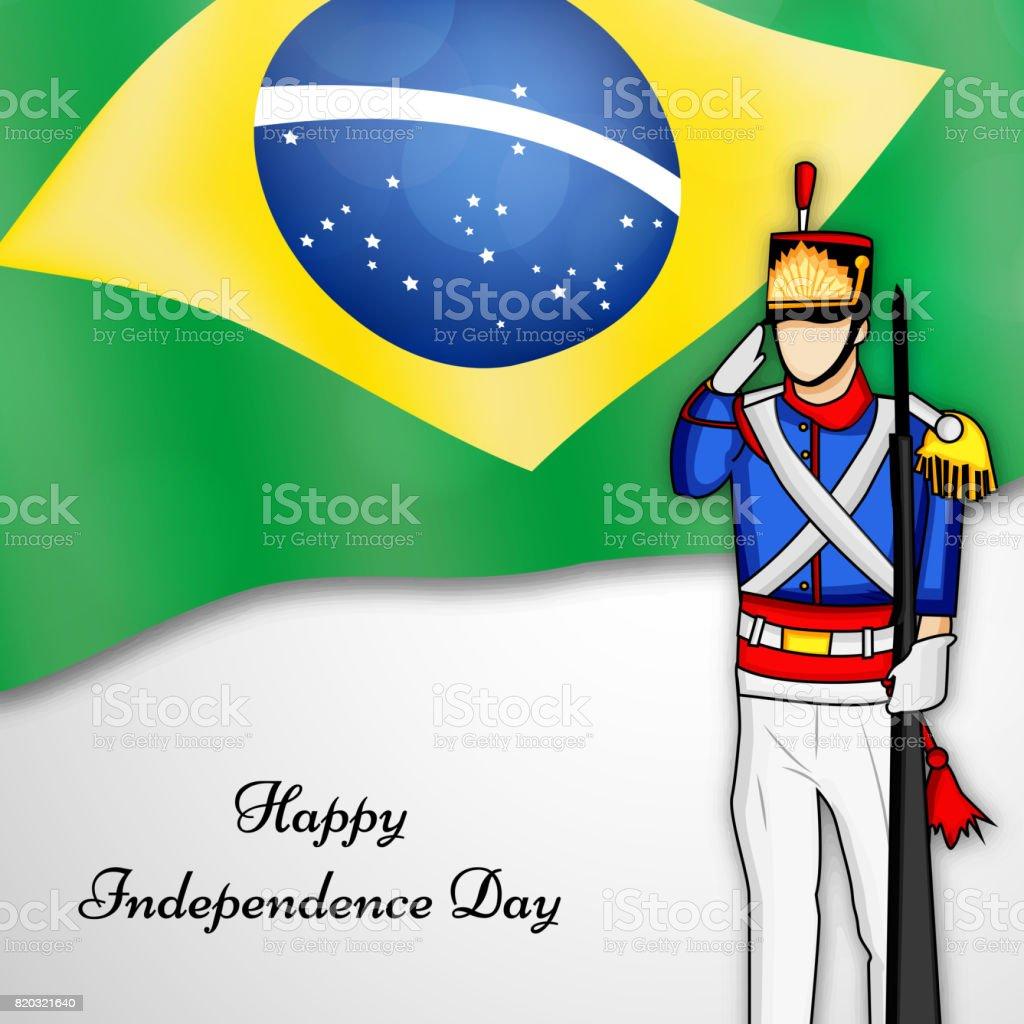 ブラジル独立記念日の背景のイラ...