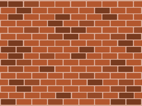 Illustration of brick wall background texture