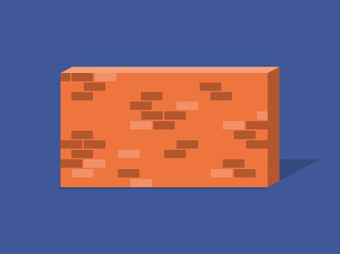 Illustration of brick wall obstacle