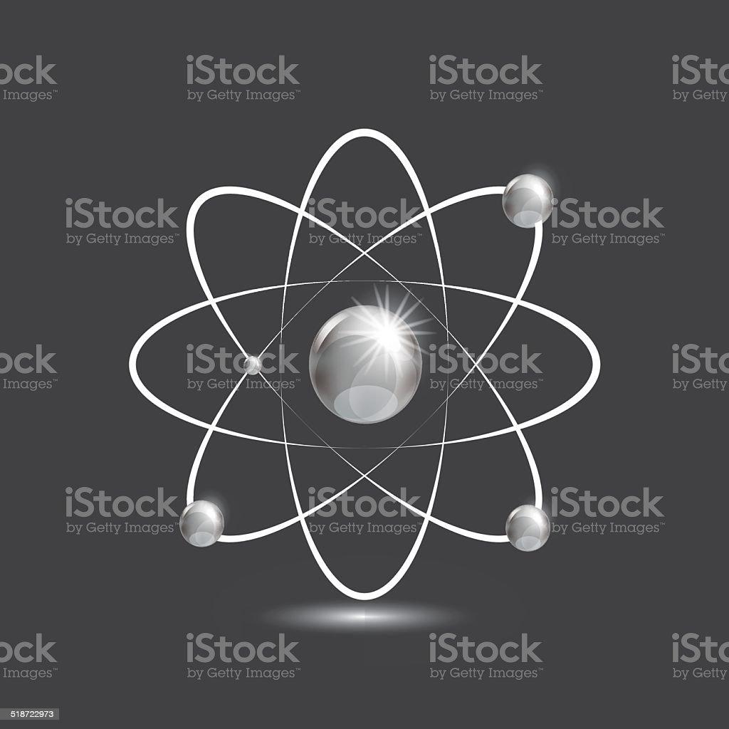 Illustration of bright atoms vector art illustration