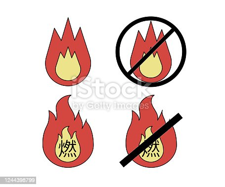 istock illustration of burnable garbage and Non-burnable garbage 1244398799