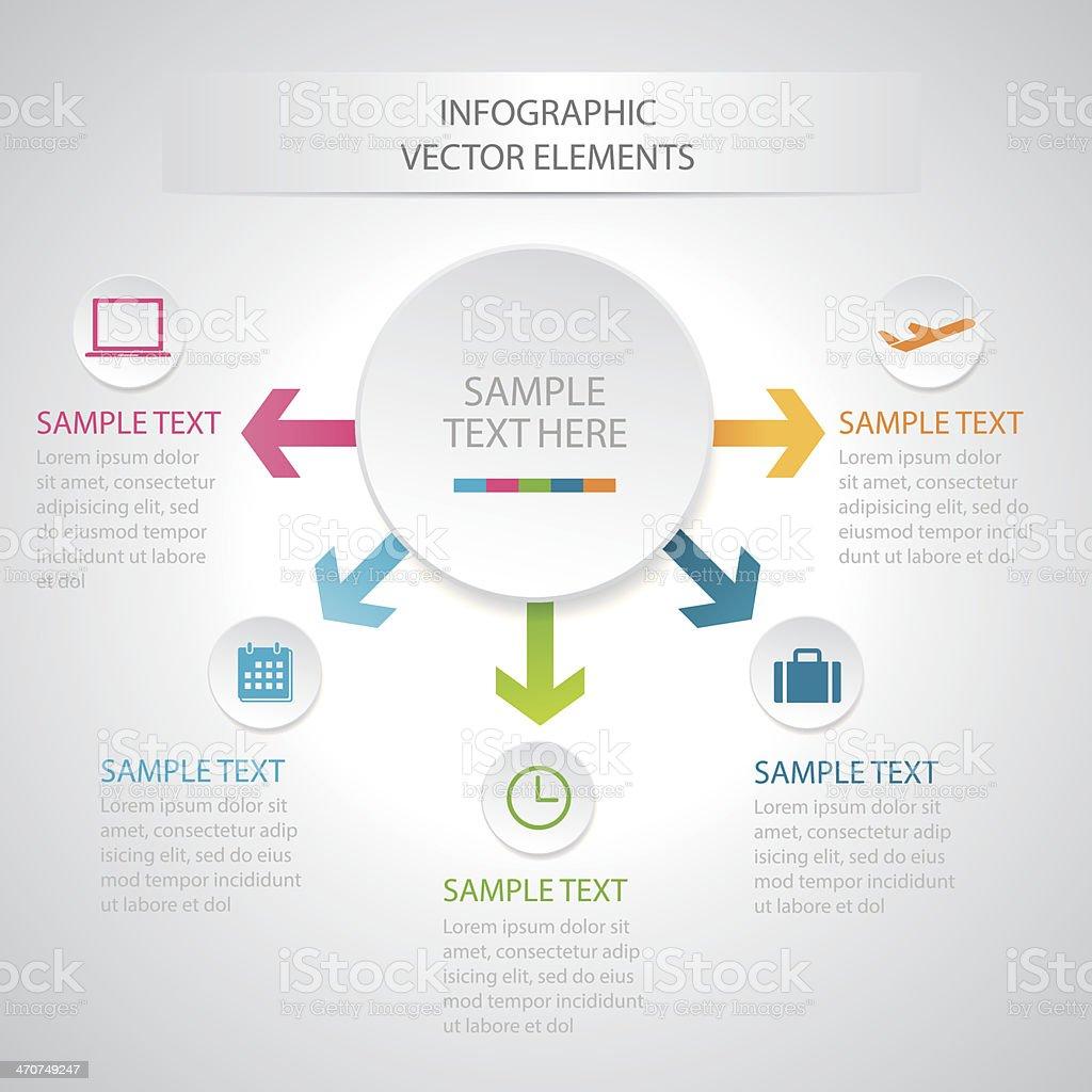 Illustration of business infographic diagram vector art illustration