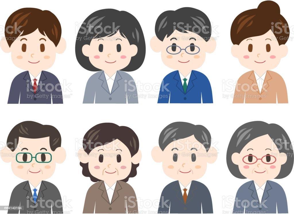 Illustration of businessperson illustration of businessperson - stockowe grafiki wektorowe i więcej obrazów baby boomer royalty-free