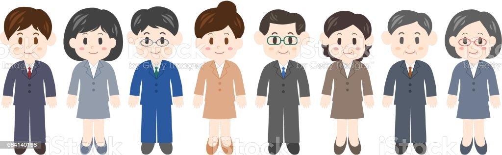 Illustration of businessperson vector art illustration