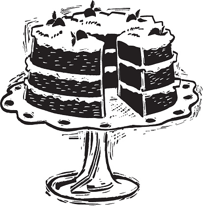 Illustration of cake