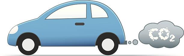 ilustrações de stock, clip art, desenhos animados e ícones de poluição de carros - exhaust white background