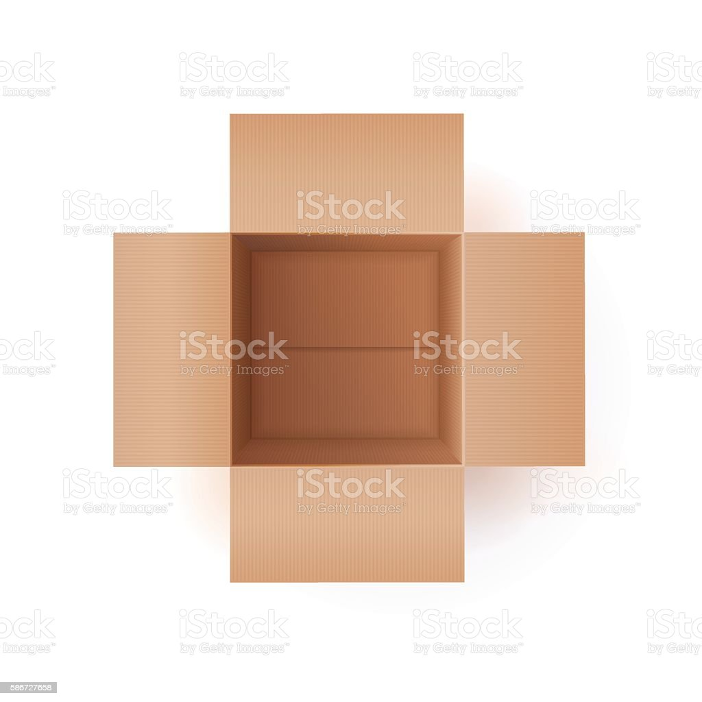 Illustration Of Cardboard Box vector art illustration