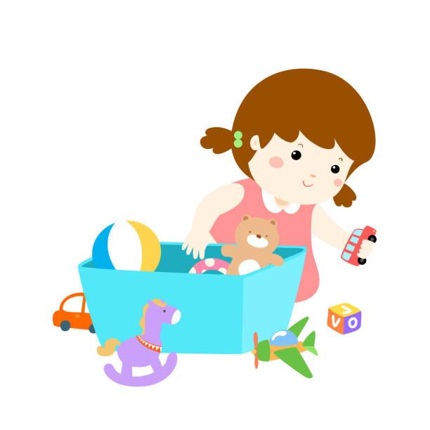 clean up toys cartoon. Black Bedroom Furniture Sets. Home Design Ideas