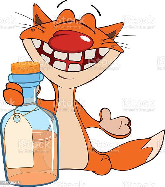 Illustration of cat with small bottle vector id487736018?b=1&k=6&m=487736018&s=612x612&h=lepc2ya8cxed fs7rrysjnmmktmm8f fwf9fb57kmzk=