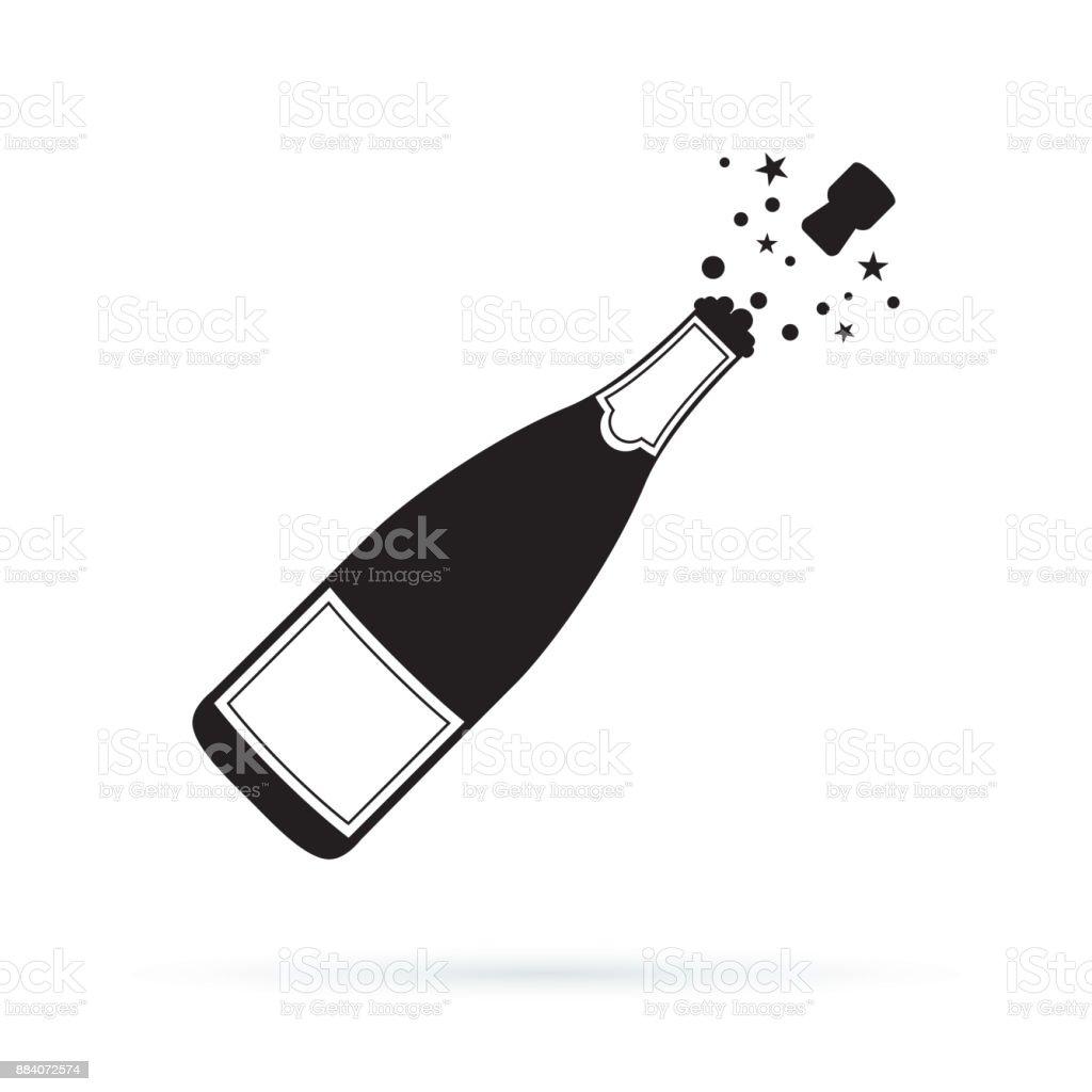 royalty free champagne bottle clip art vector images rh istockphoto com pink champagne bottle clipart pink champagne bottle clipart