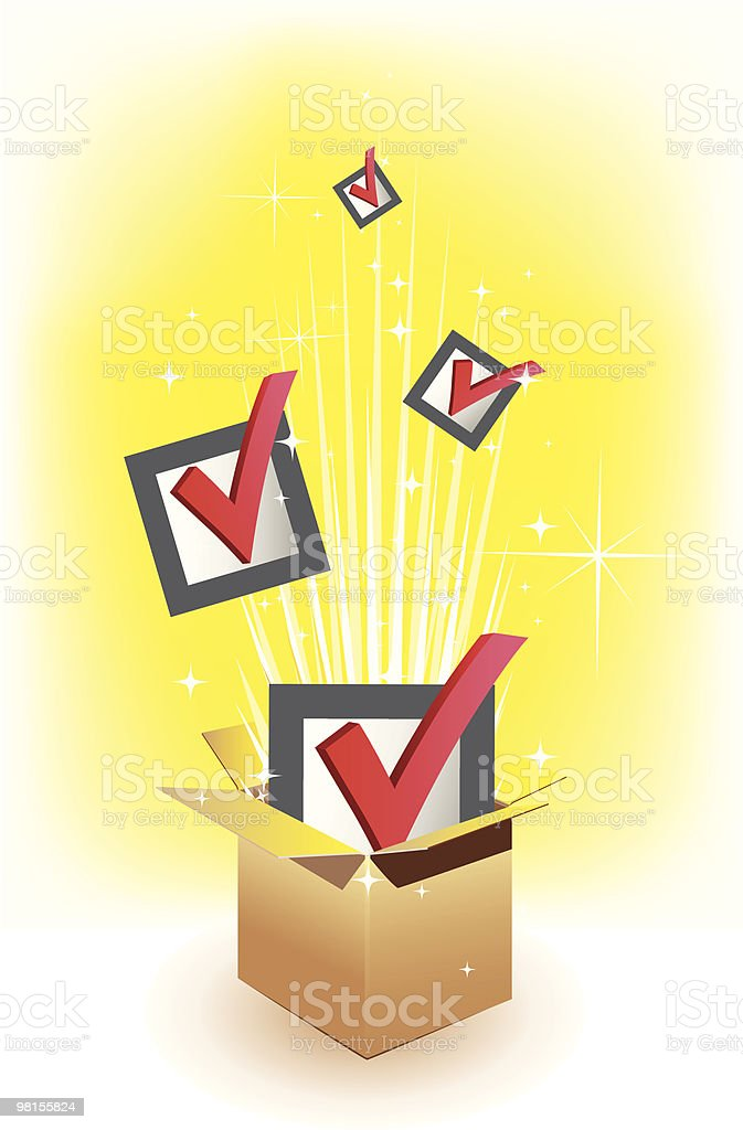 Illustration of checked boxes pumping out royalty-free illustration of checked boxes pumping out stock vector art & more images of box - container
